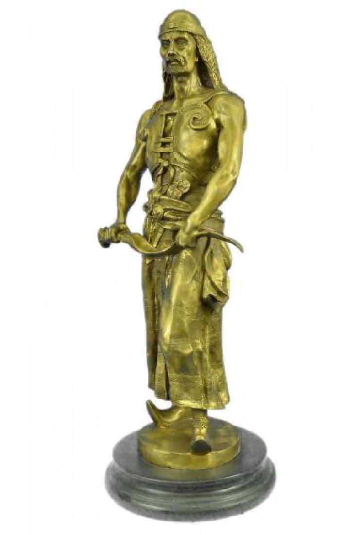 Orientals Arab With Sword Bronze Sculpture