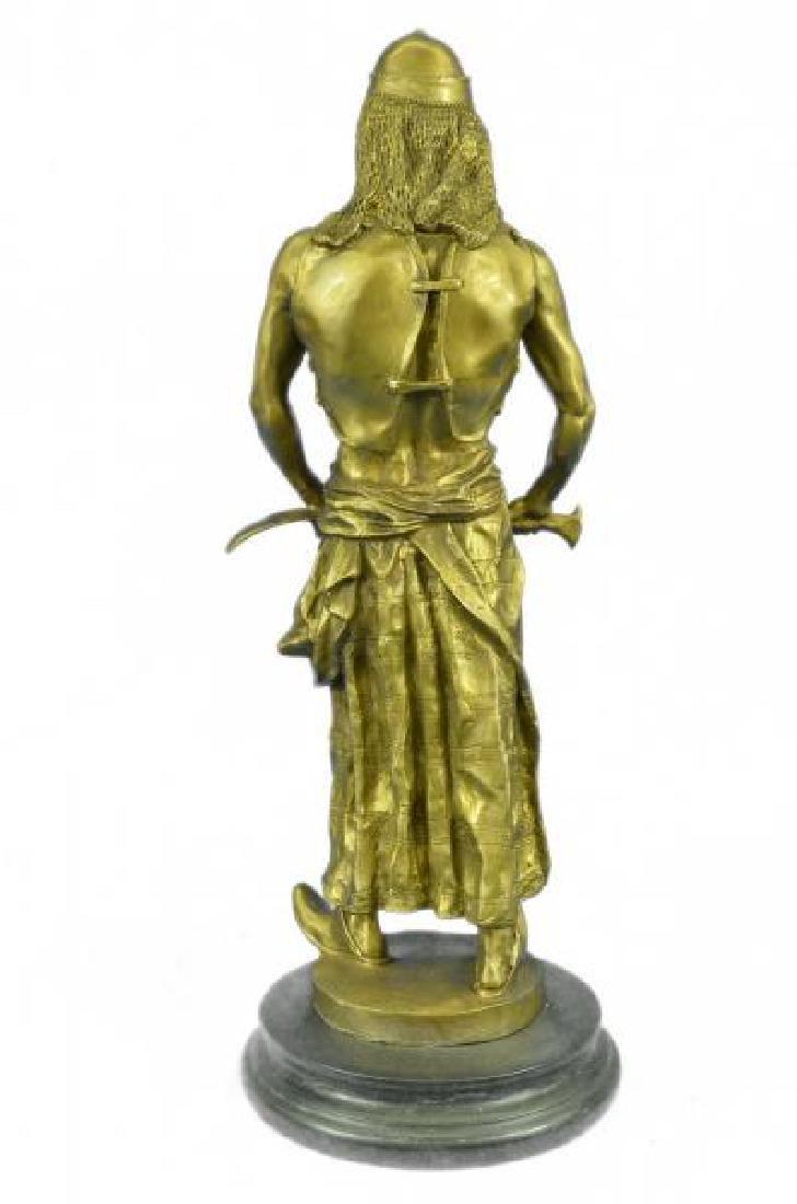 Orientals Arab With Sword Bronze Sculpture - 3
