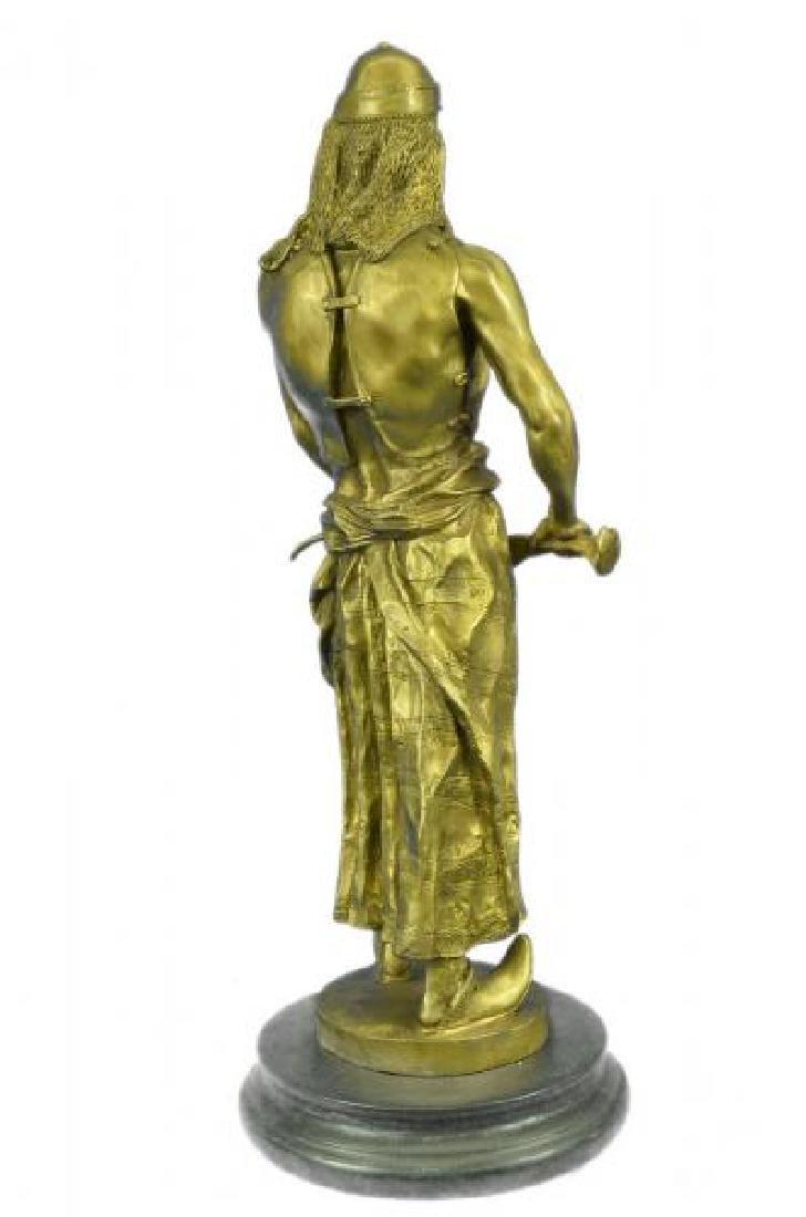 Orientals Arab With Sword Bronze Sculpture - 4