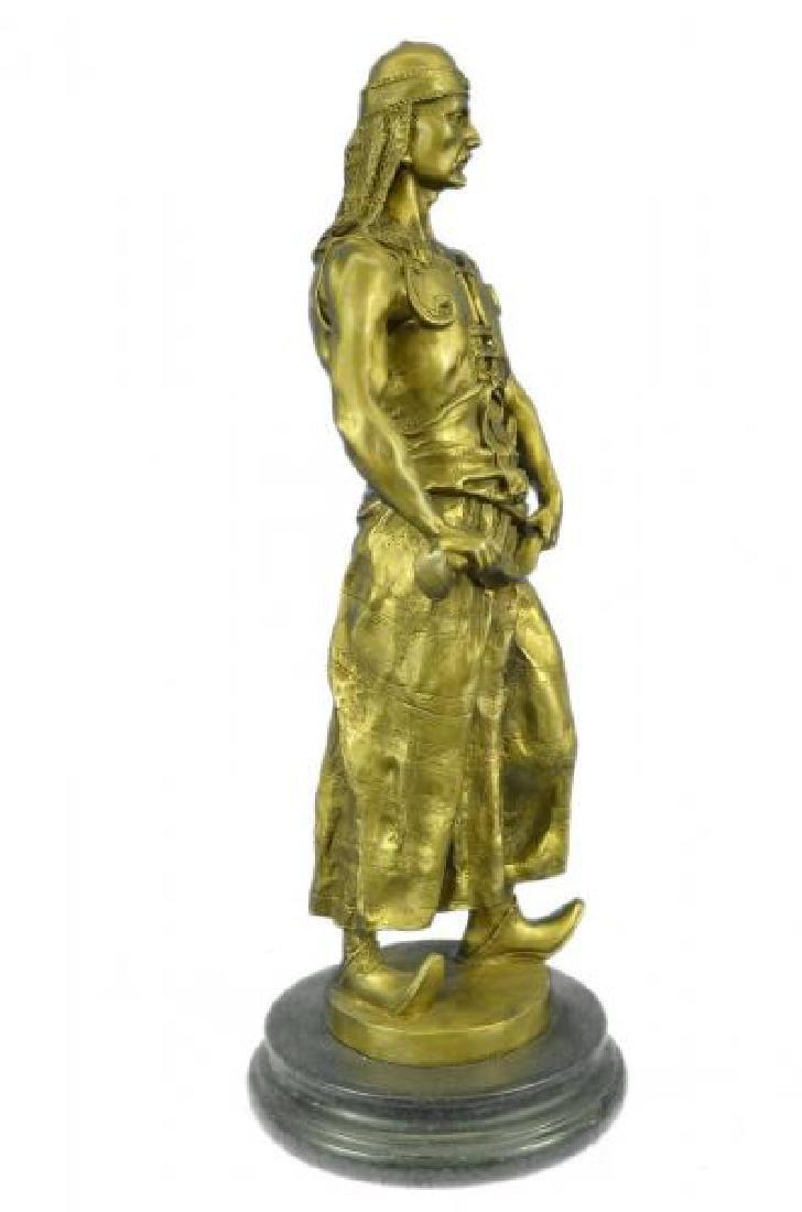 Orientals Arab With Sword Bronze Sculpture - 5