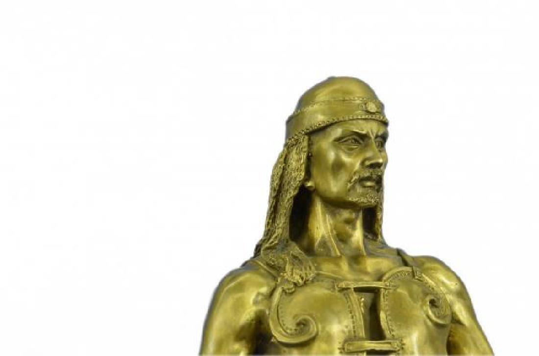 Orientals Arab With Sword Bronze Sculpture - 6