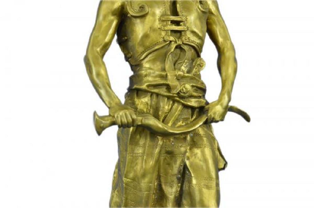 Orientals Arab With Sword Bronze Sculpture - 7