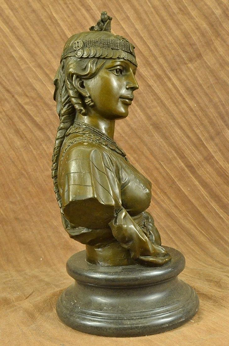 Egyptian Lady Le Caire Bronze Sculpture - 4