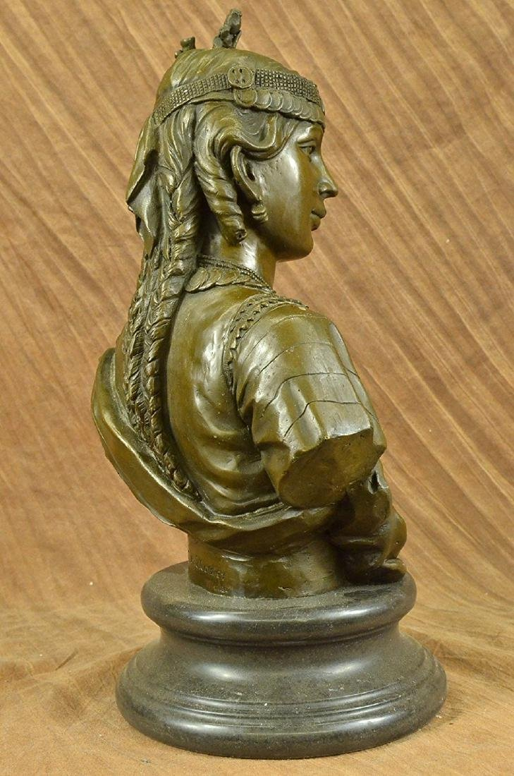 Egyptian Lady Le Caire Bronze Sculpture - 5