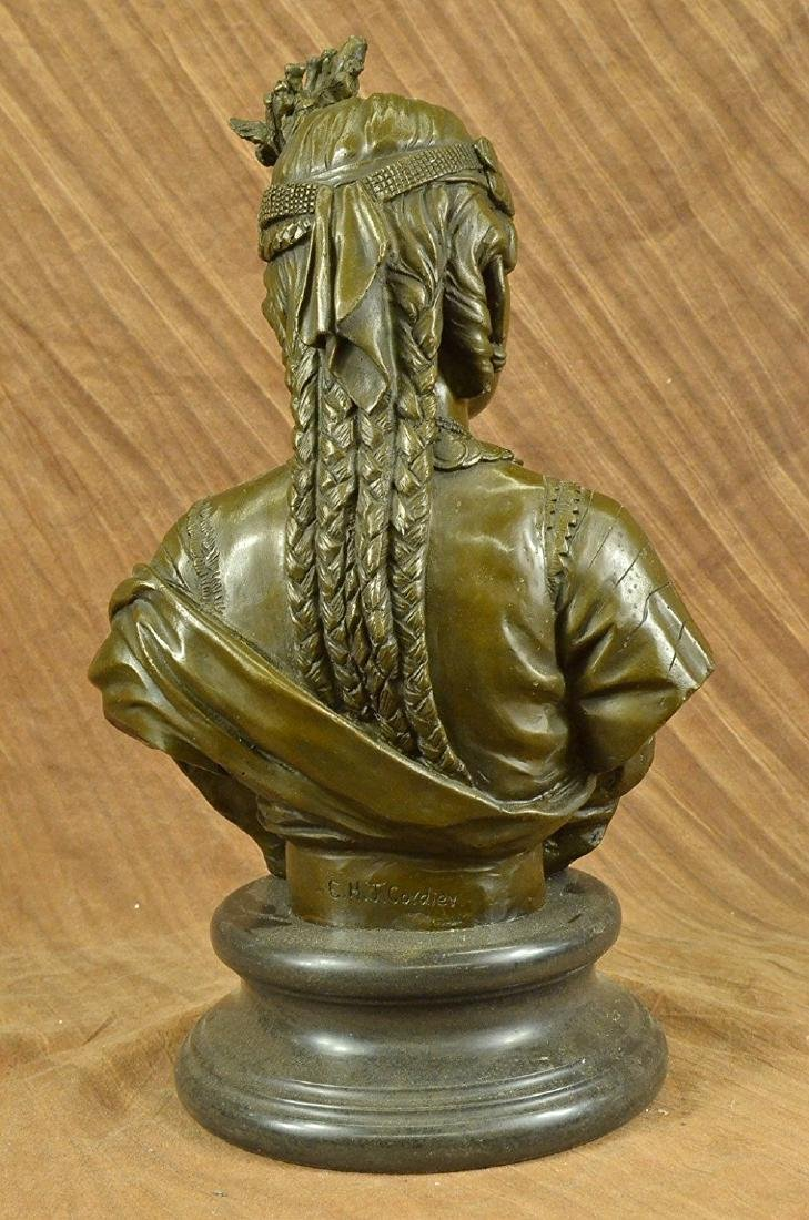 Egyptian Lady Le Caire Bronze Sculpture - 6