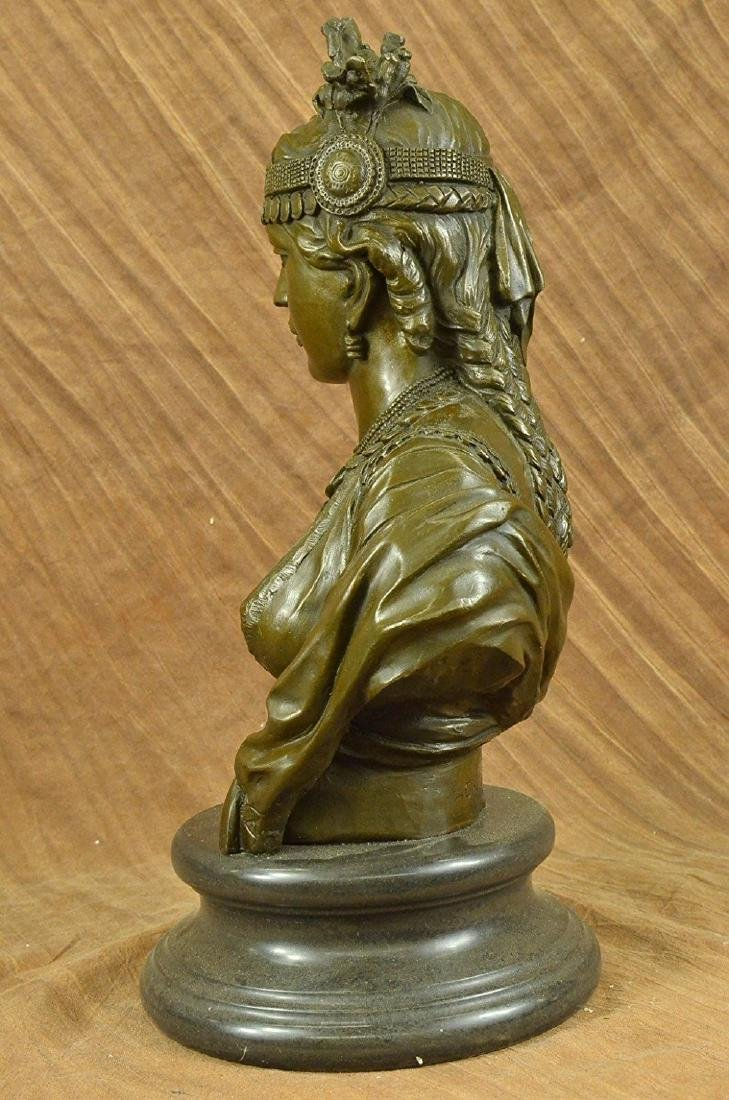 Egyptian Lady Le Caire Bronze Sculpture - 8