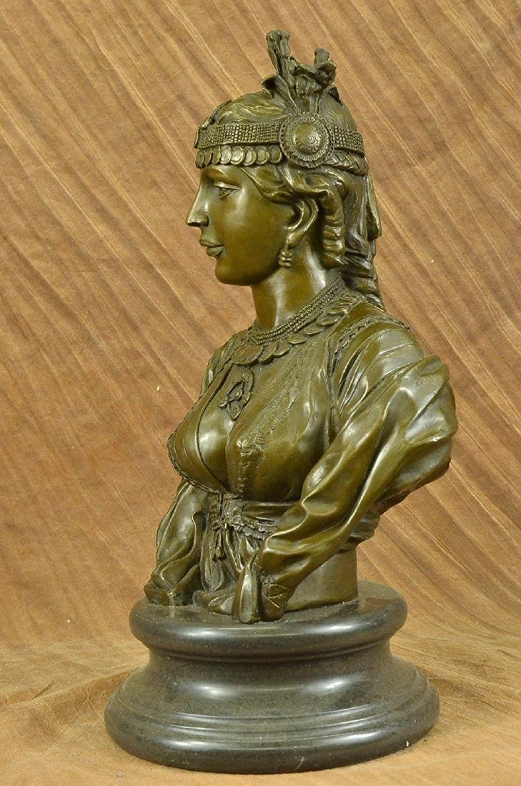 Egyptian Lady Le Caire Bronze Sculpture - 9