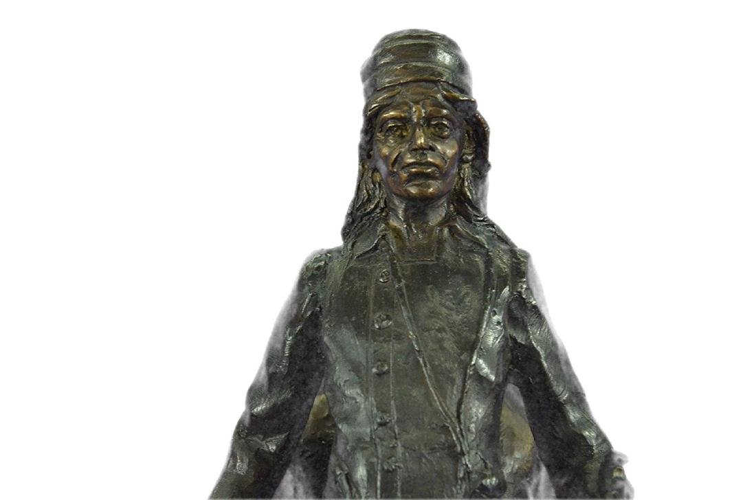Mountain Man Bronze Sculpture on Marble Base Statue - 2