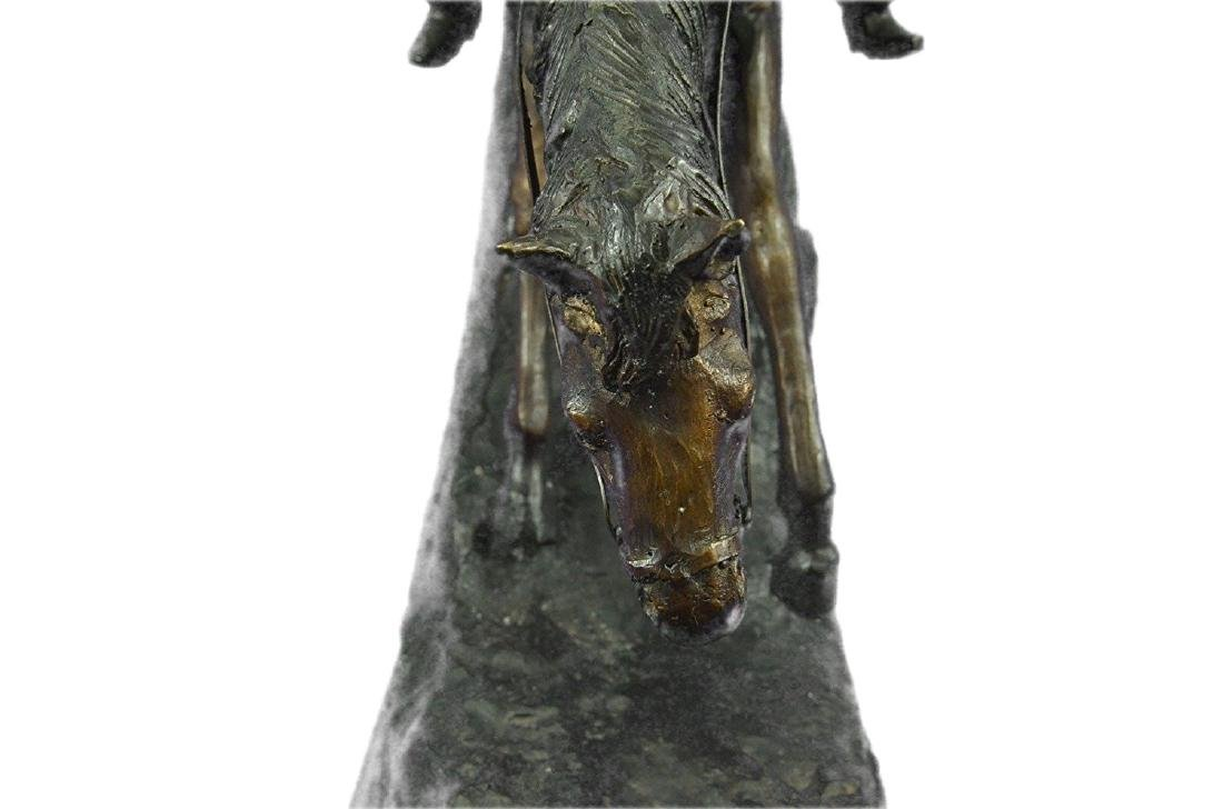 Mountain Man Bronze Sculpture on Marble Base Statue - 3
