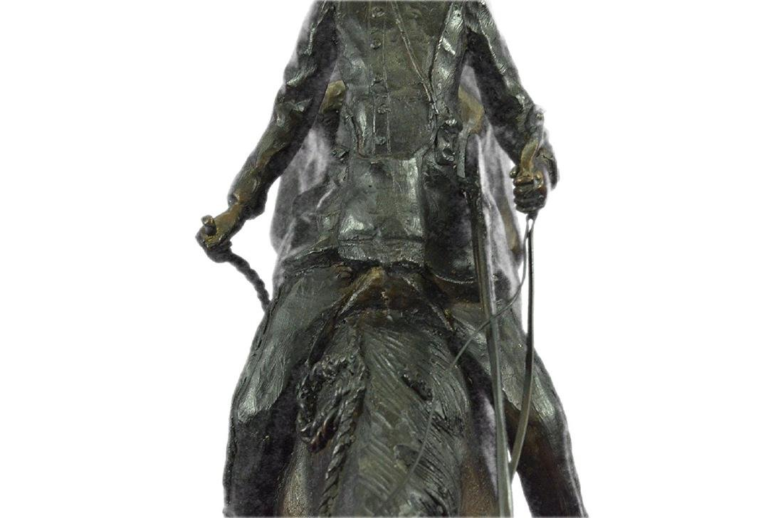 Mountain Man Bronze Sculpture on Marble Base Statue - 4