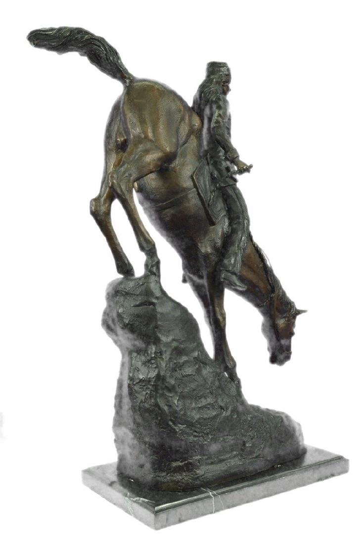 Mountain Man Bronze Sculpture on Marble Base Statue - 7