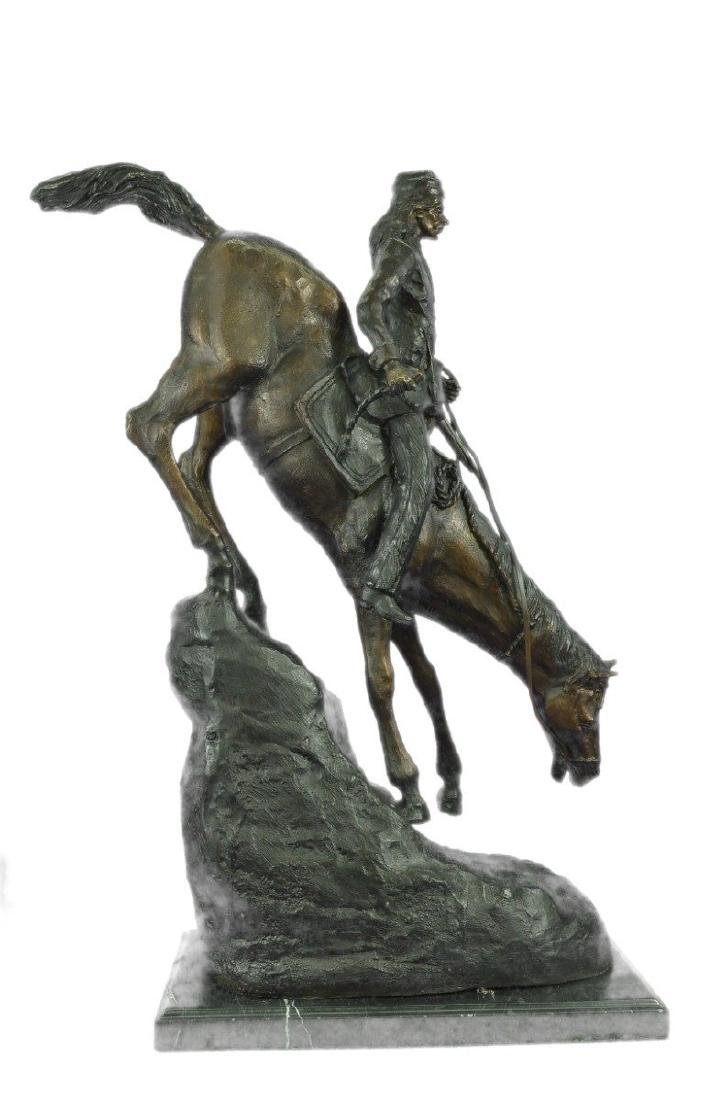 Mountain Man Bronze Sculpture on Marble Base Statue - 8