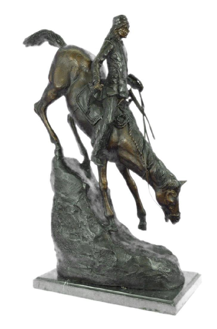 Mountain Man Bronze Sculpture on Marble Base Statue - 9