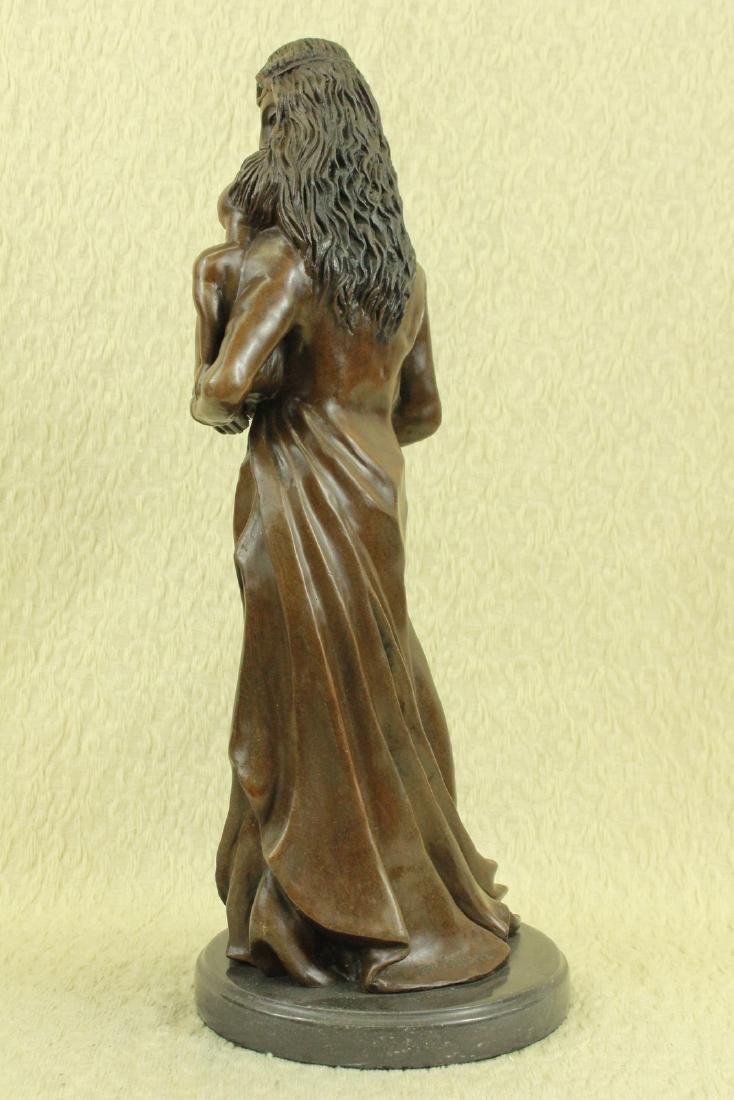 Mother Love Child Bronze Sculpture - 3