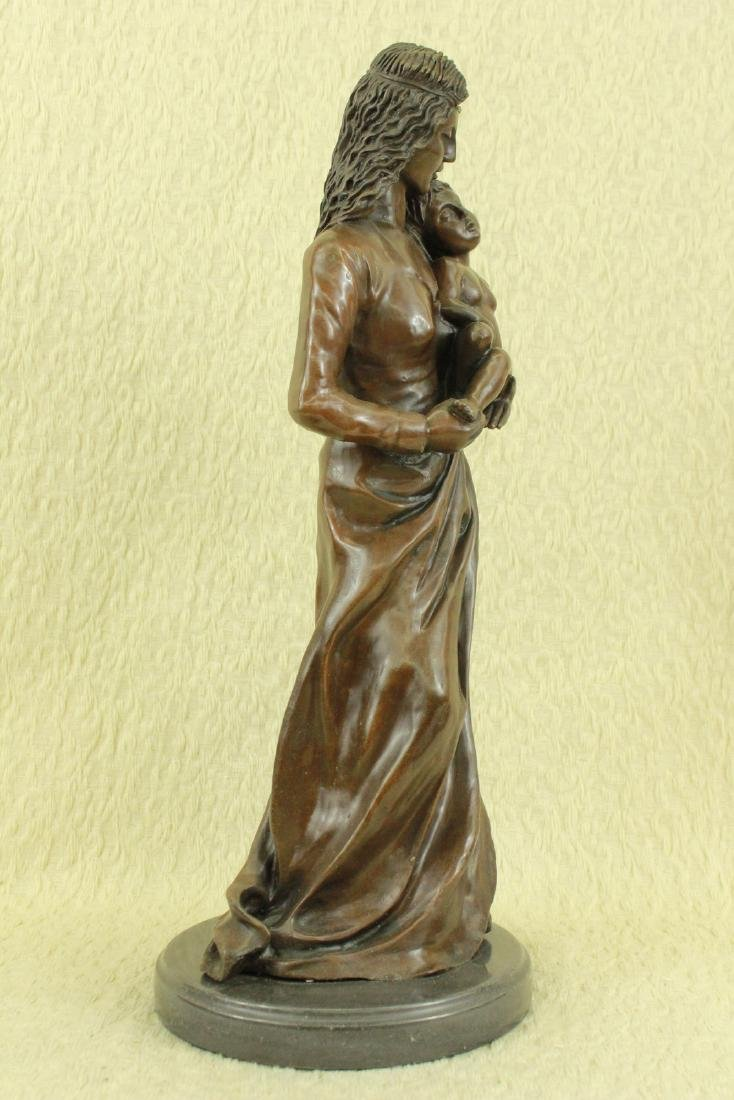 Mother Love Child Bronze Sculpture - 5