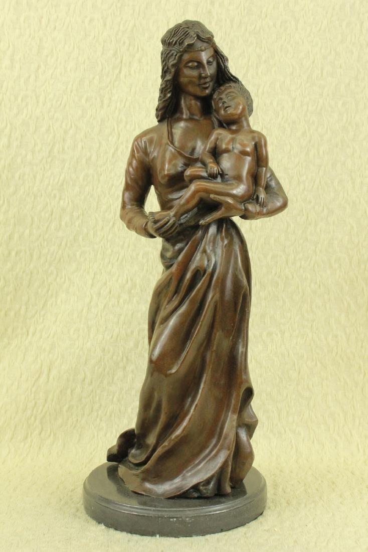 Mother Love Child Bronze Sculpture - 6