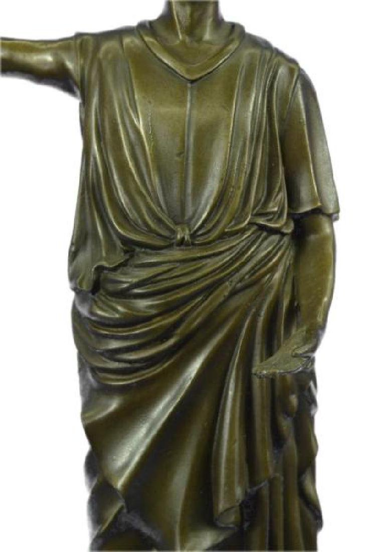 Dino Decarlo Roman Prince Royalty Bronze Sculpture - 7
