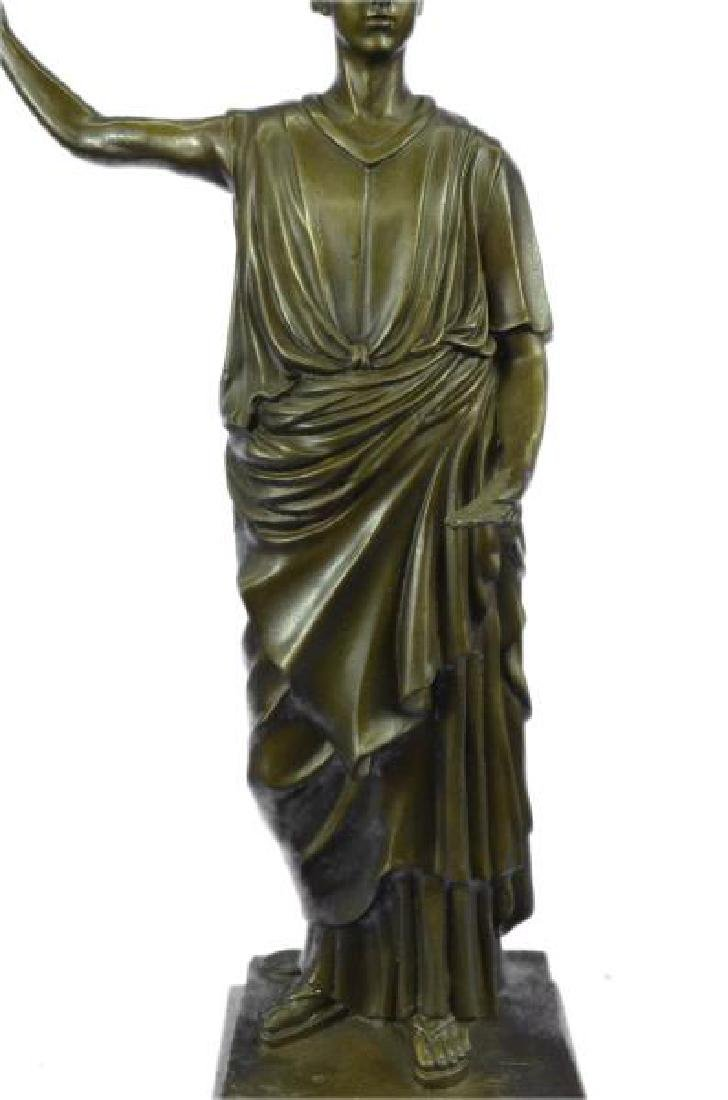 Dino Decarlo Roman Prince Royalty Bronze Sculpture - 8