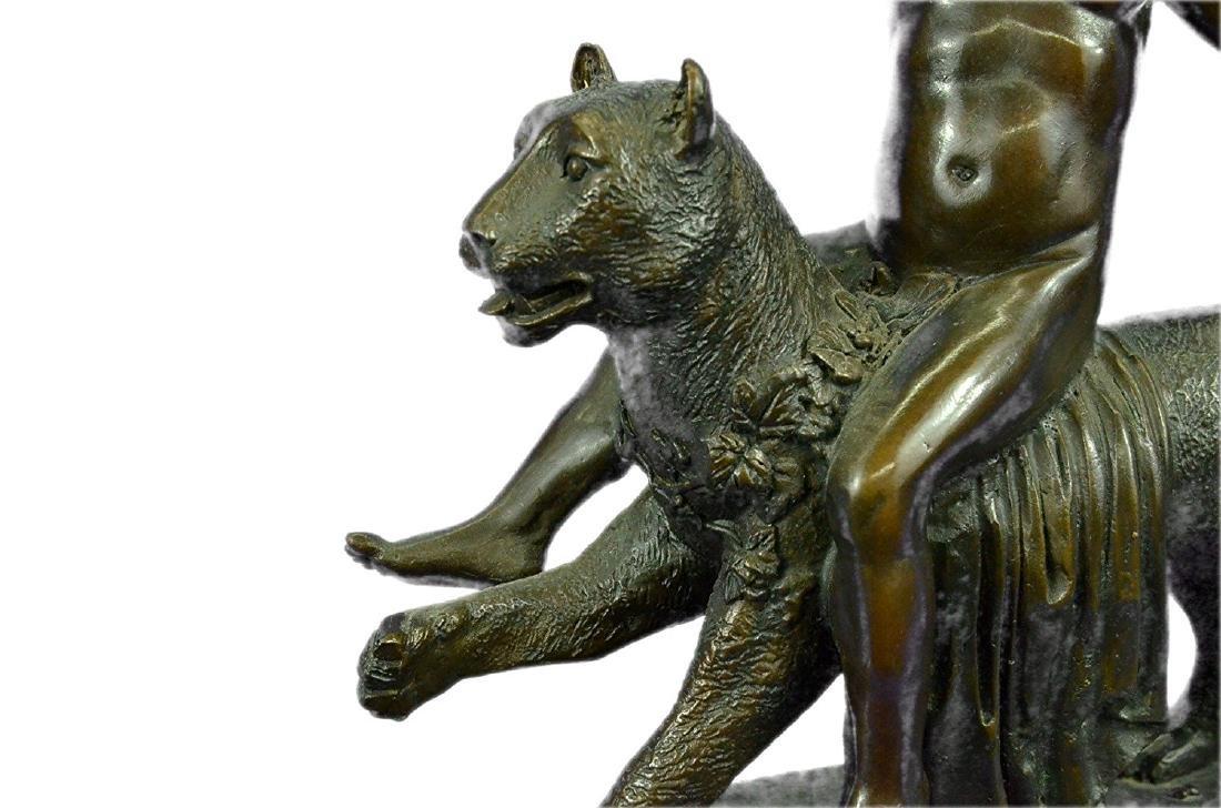 Wild Child Riding a Panther Bronze Sculpture - 3