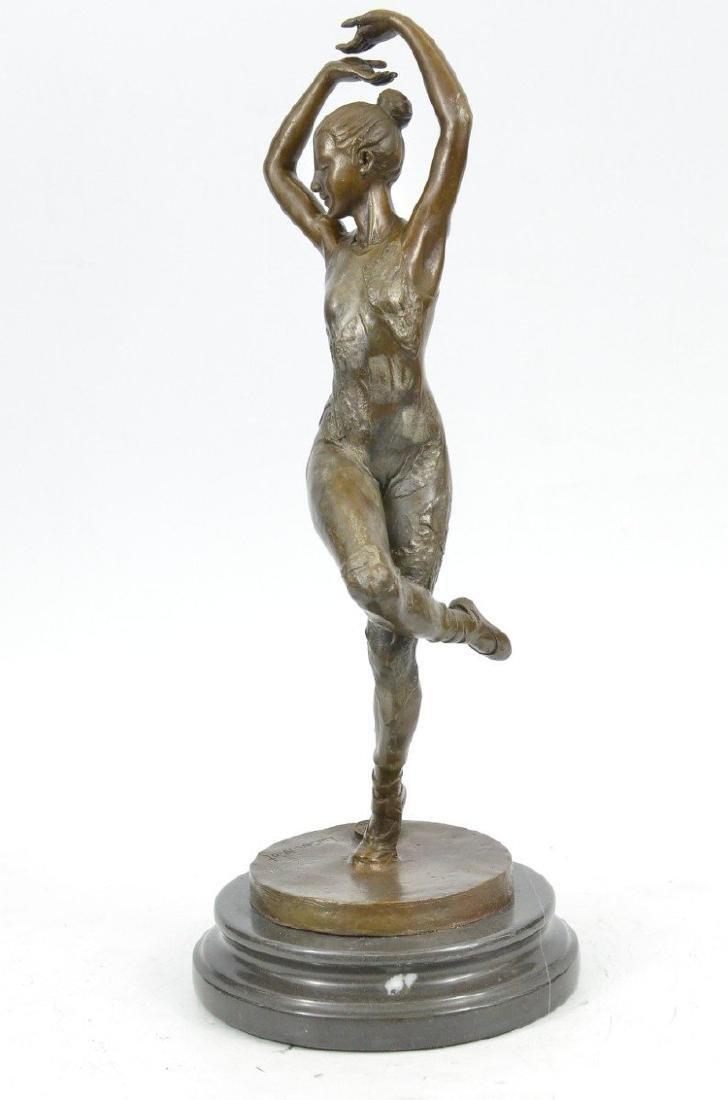 Ballerina Dancer Bronze Sculpture - 3
