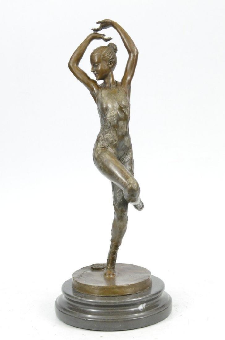 Ballerina Dancer Bronze Sculpture - 6