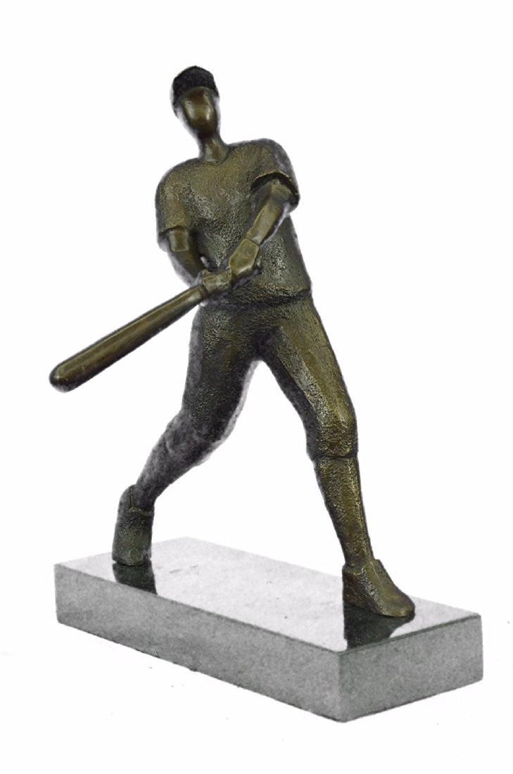 Baseball Player Bronze Statue