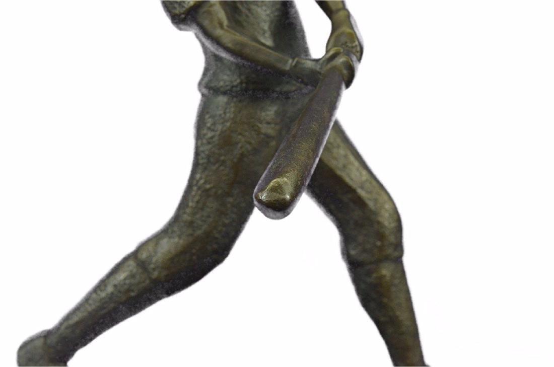 Baseball Player Bronze Statue - 4