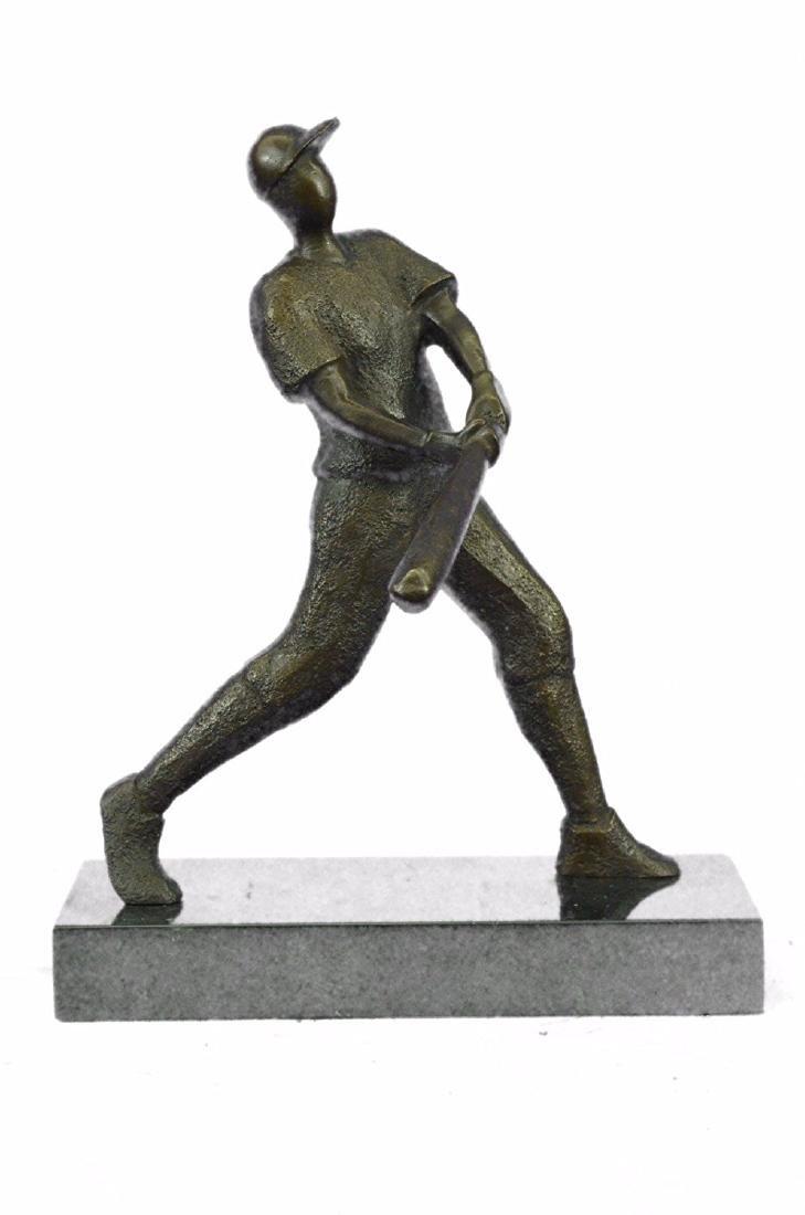 Baseball Player Bronze Statue - 5