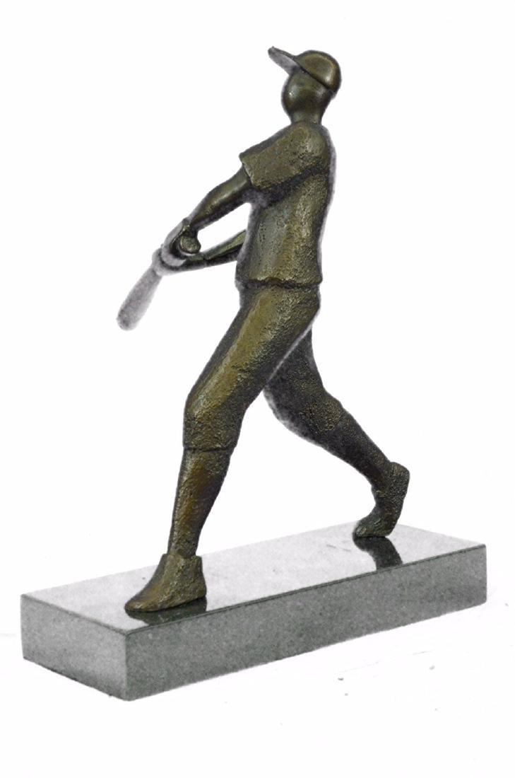 Baseball Player Bronze Statue - 6