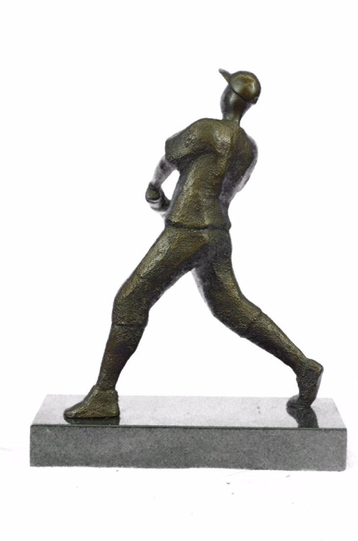 Baseball Player Bronze Statue - 7