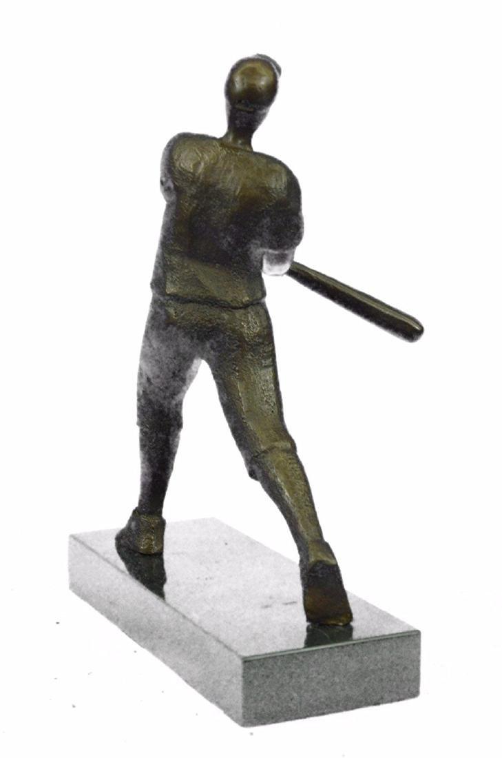 Baseball Player Bronze Statue - 8