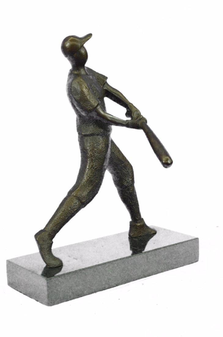 Baseball Player Bronze Statue - 9