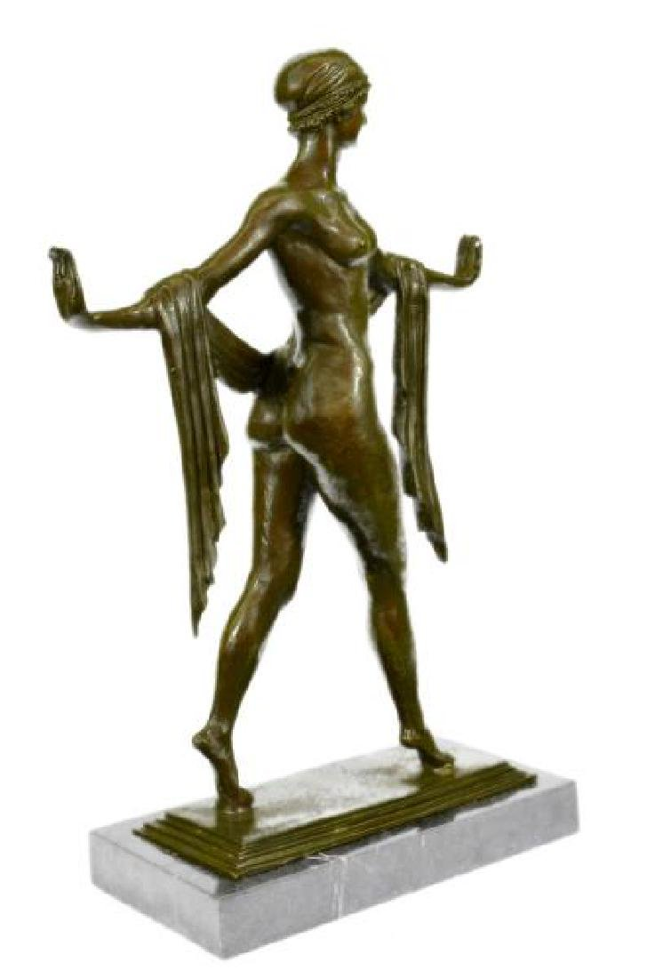 The Greek Dance Bronze Sculpture on Marble Base Statue - 5