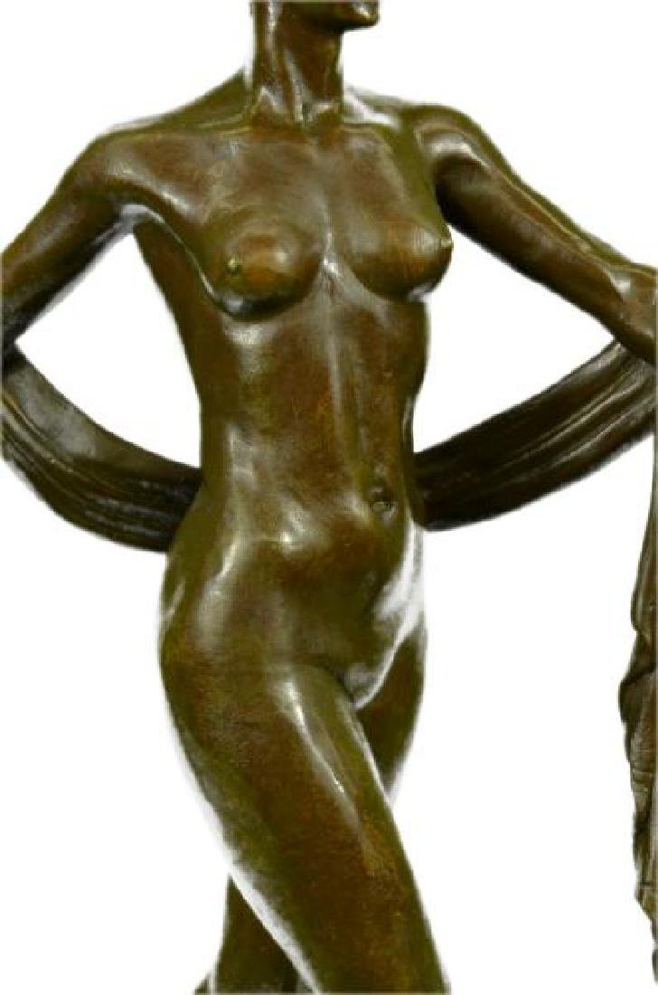 The Greek Dance Bronze Sculpture on Marble Base Statue - 7