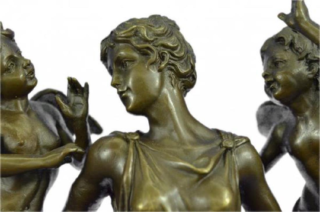 Cegazo Depicts of Woman and Two Cherub Bronze Sculpture - 6