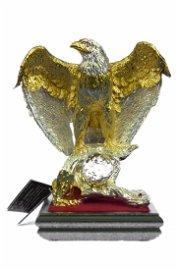 Gold Plexiglases Classic American Eagle Sculpture