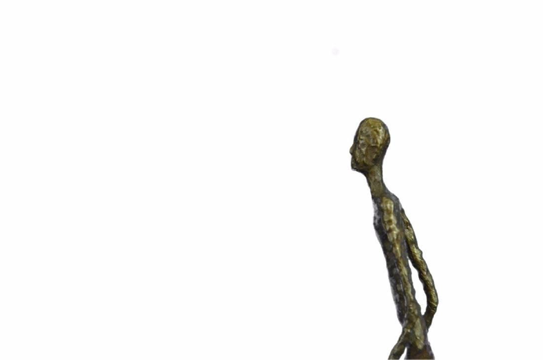 Strawberry and Walking Man Bronze Sculpture - 3