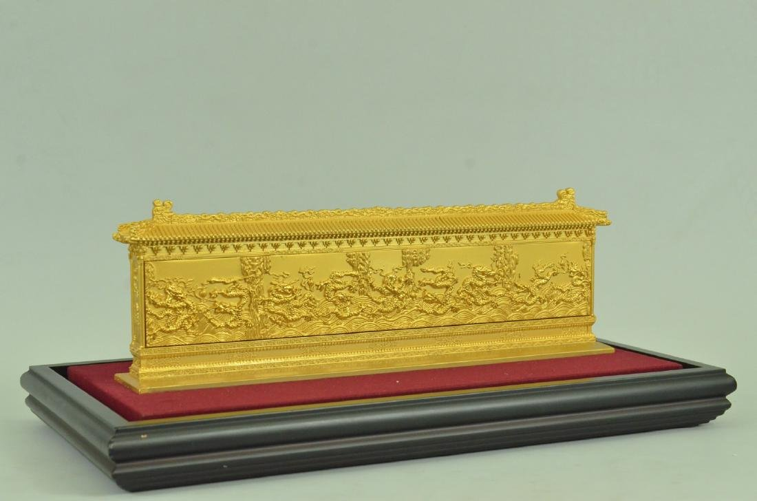 Gold Plexiglases Dragon Sculpture - 10