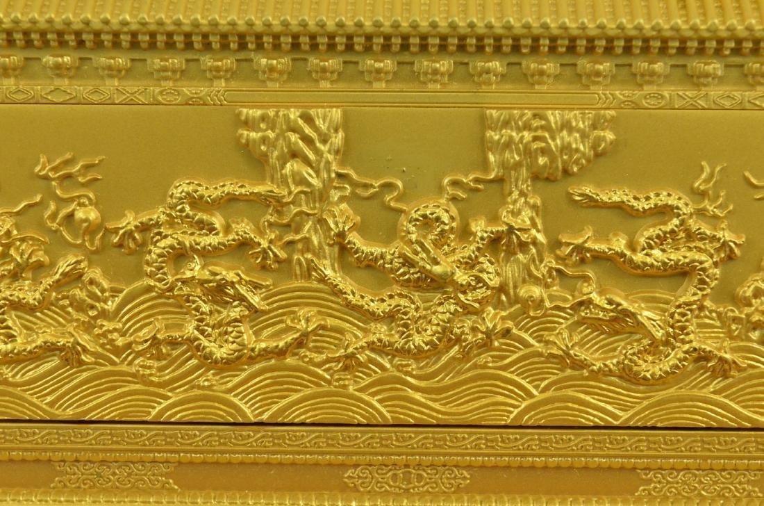 Gold Plexiglases Dragon Sculpture - 2