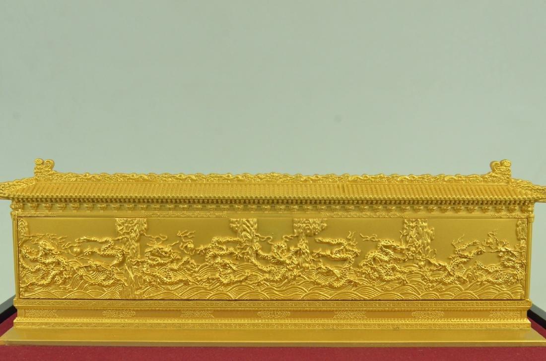 Gold Plexiglases Dragon Sculpture - 3
