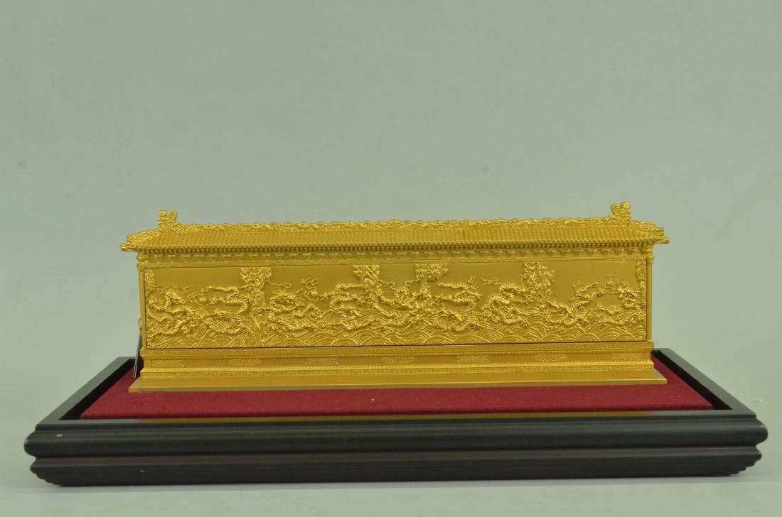 Gold Plexiglases Dragon Sculpture - 5
