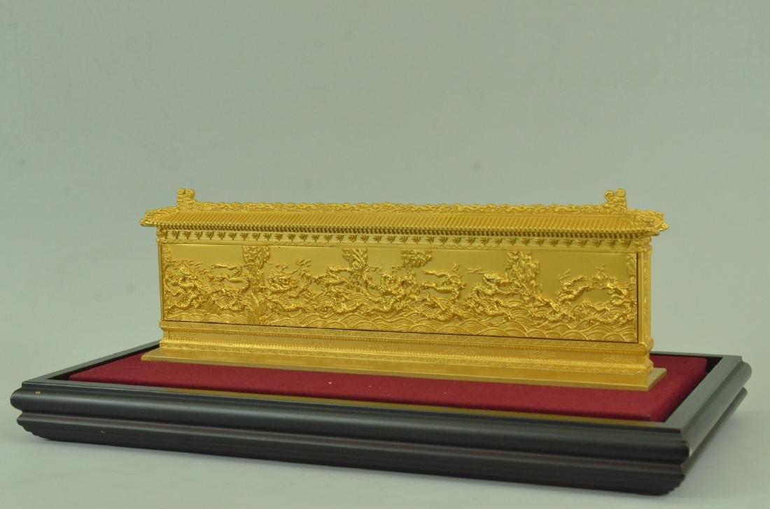 Gold Plexiglases Dragon Sculpture - 6