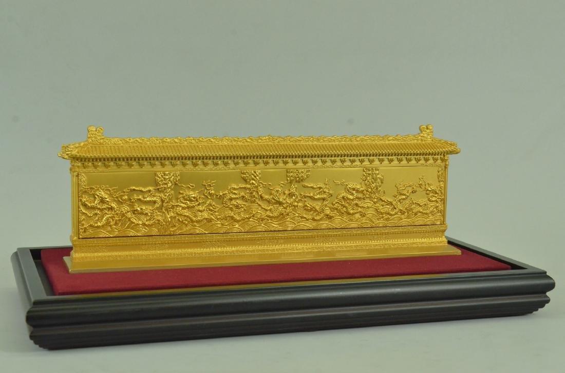 Gold Plexiglases Dragon Sculpture - 7