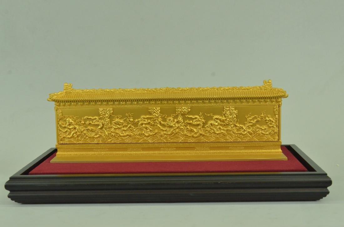 Gold Plexiglases Dragon Sculpture - 8