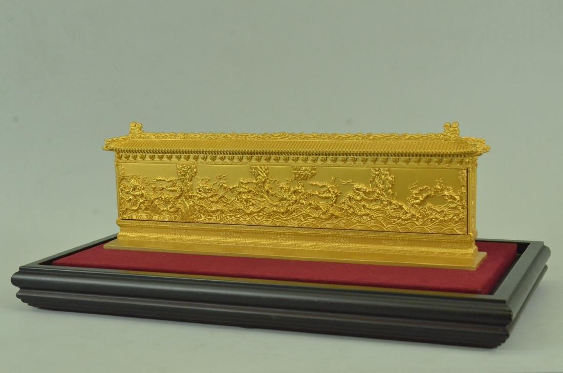 Gold Plexiglases Dragon Sculpture - 9