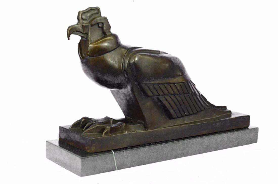 An Egyptian Style Figure of The Horus falcon Bronze - 5