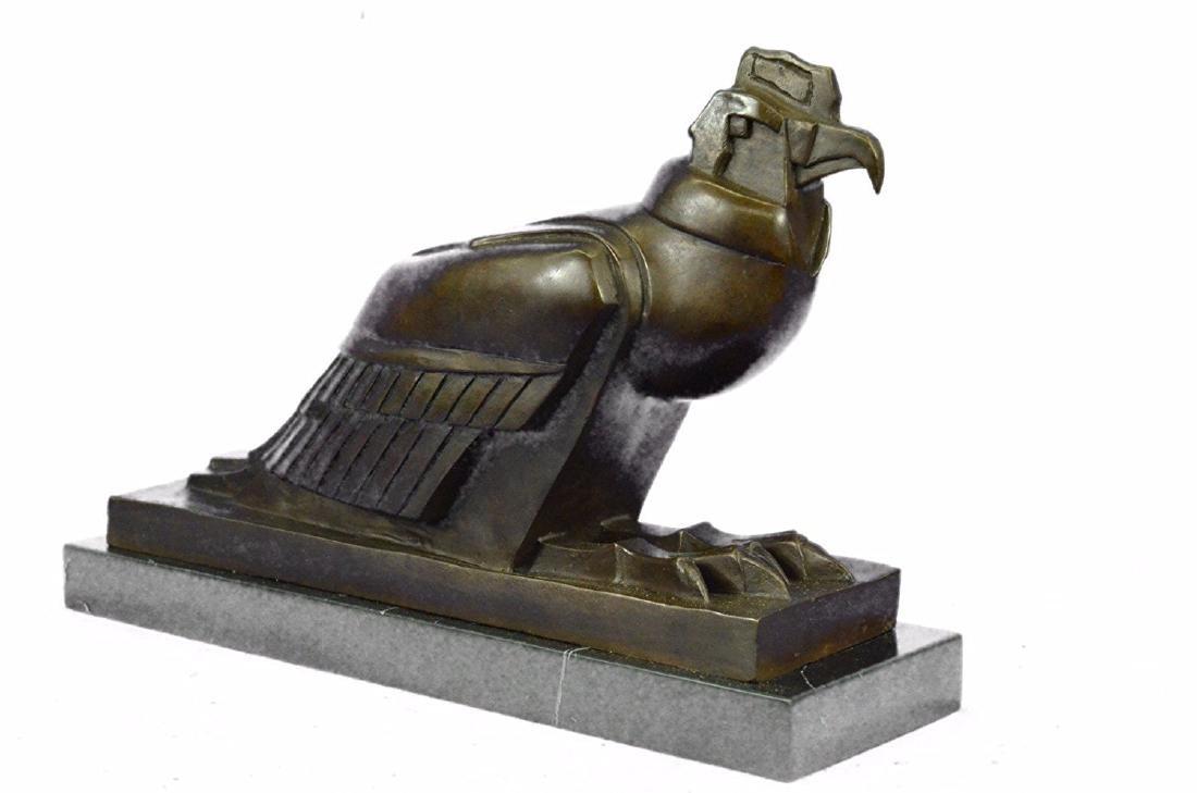 An Egyptian Style Figure of The Horus falcon Bronze - 6