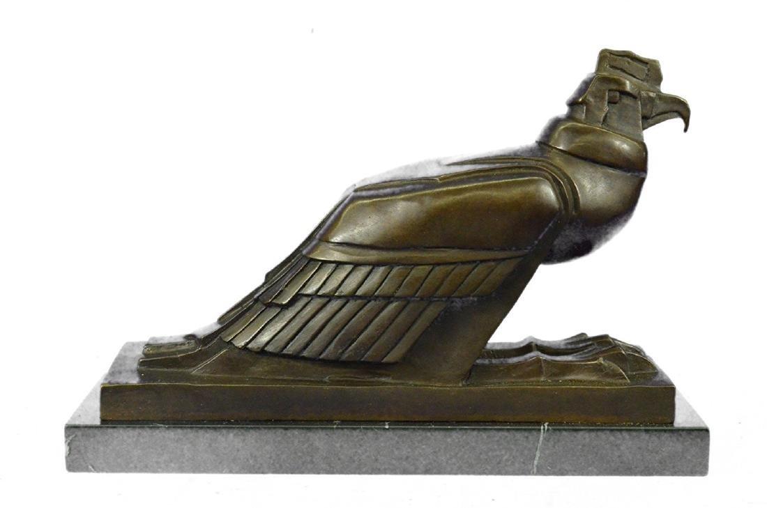 An Egyptian Style Figure of The Horus falcon Bronze - 7