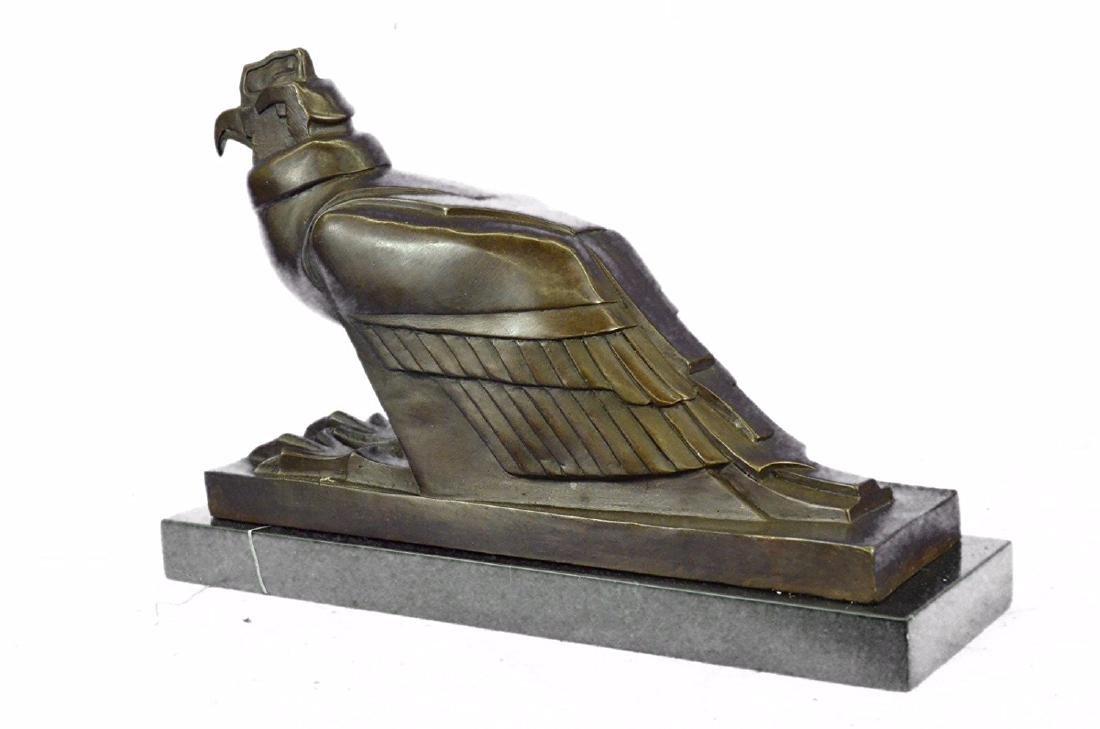 An Egyptian Style Figure of The Horus falcon Bronze - 9