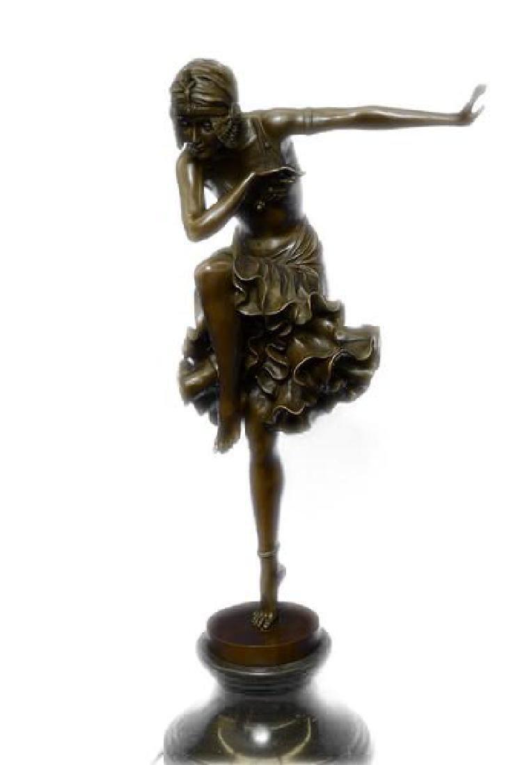 Egyptian Dancer Bronze Sculpture - 2
